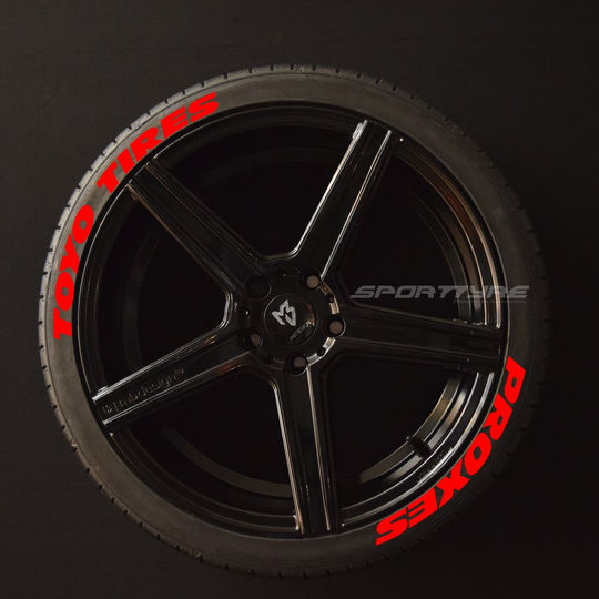 TOYO TIRES PROXES (Wide) rojo Arriba Aba