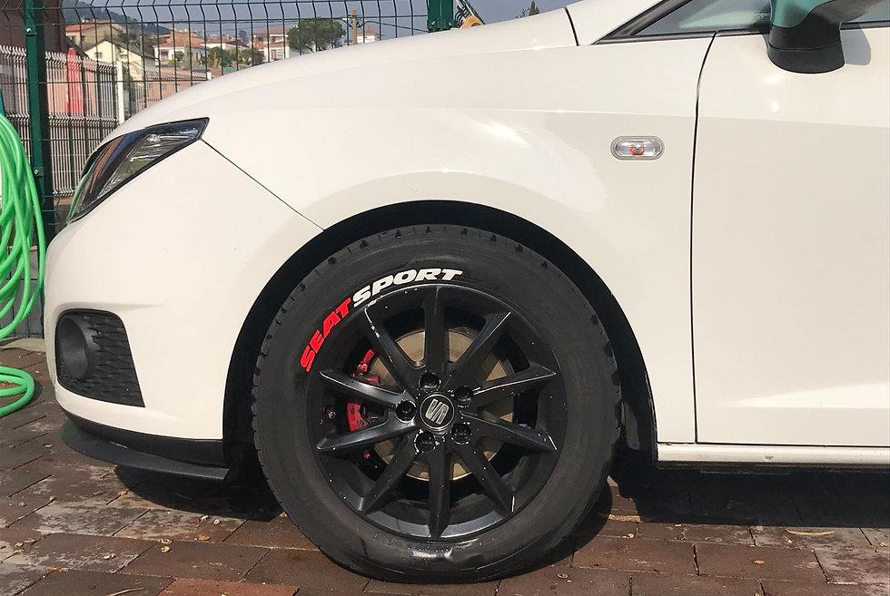 SportTyre EVO2: Pack 16 letras (4 letras x 4 neumáticos) SEAT, AUDI, FORD...