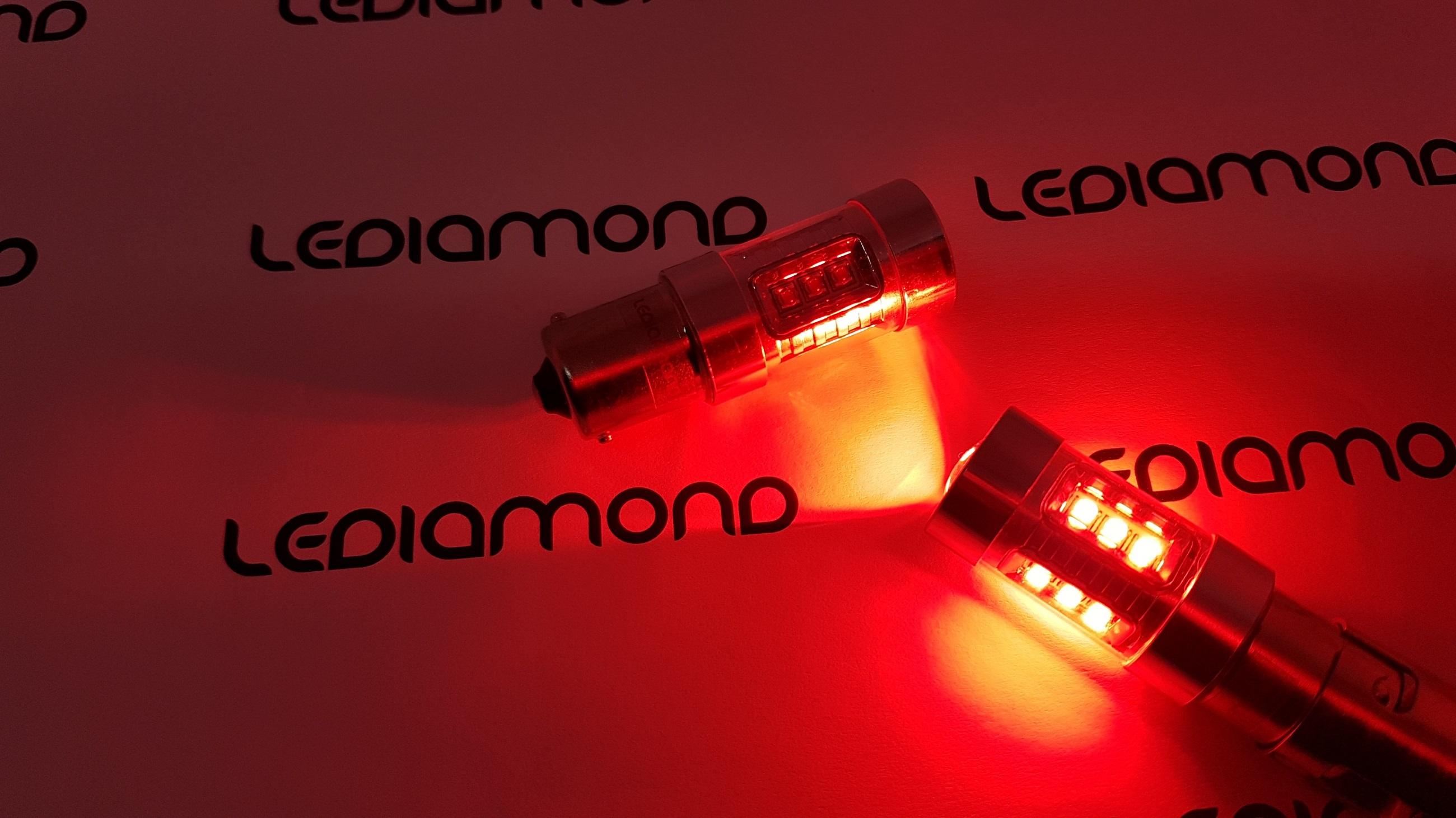LEDIAMOND PR21W BA15S ROJO alta gama 80W LUZ 3