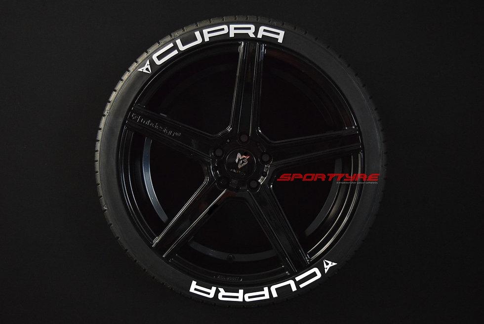 CUPRA SportTyre EVO4 FASHION. Set 8 + 1 Activador + 1 Limpiador Letras