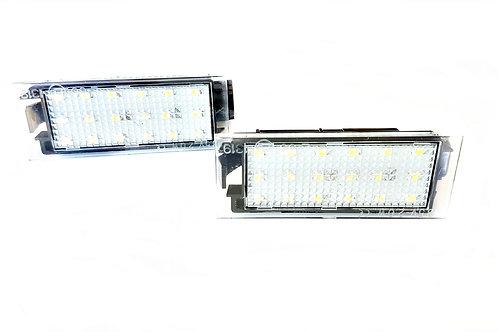 Plafones LED Matrícula RENAULT CLIO 3 MEGANE 3 y 4 LAGUNA 3 y Coupe LMD032401