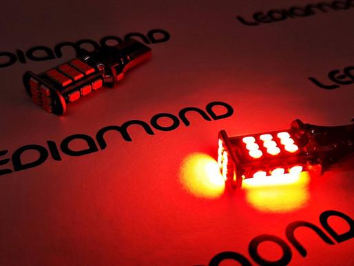 Nuevas LEDIAMOND W16W-T15 Rojo Intenso: Ultra brillantes y compactas.