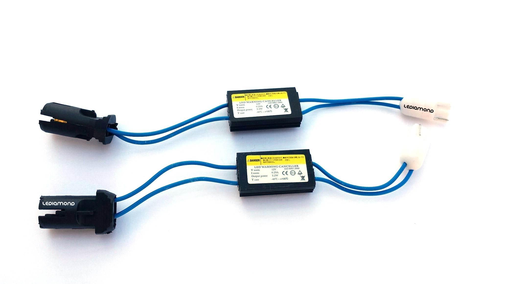 KIT CANBUS LEDIAMOND 5W CON CONECTORES T10