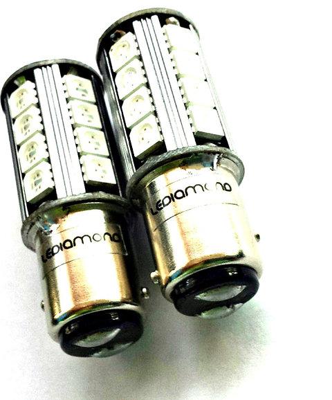 LEDiamond PR21/5W-BAY15D. Standard LED ROJO. CANBUS. SAMSUNG 5050.ROJO INTENSO