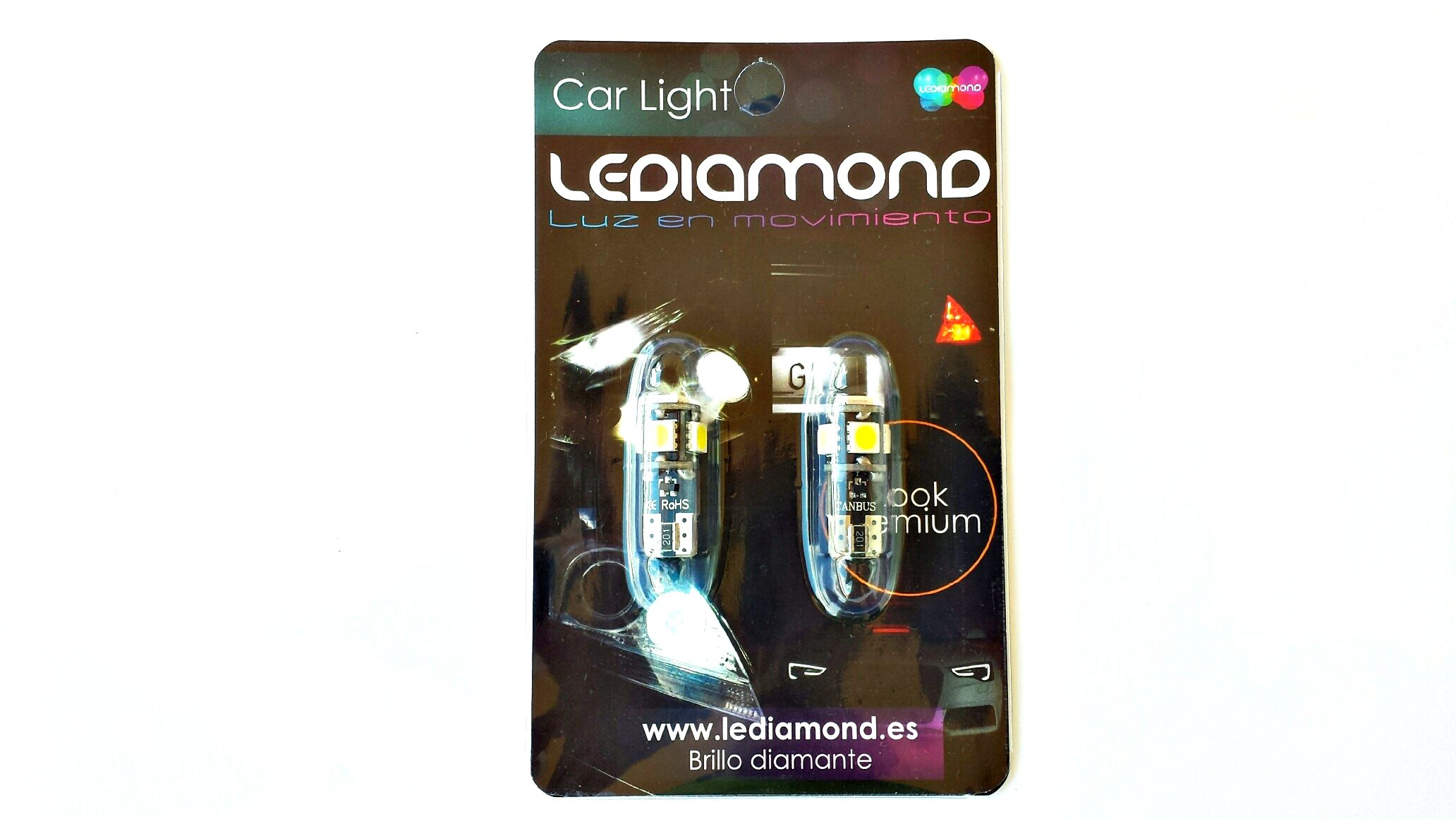 Blister LEDIAMOND W5W-T10 NEW GENERATION BLANCO DIAMANTE