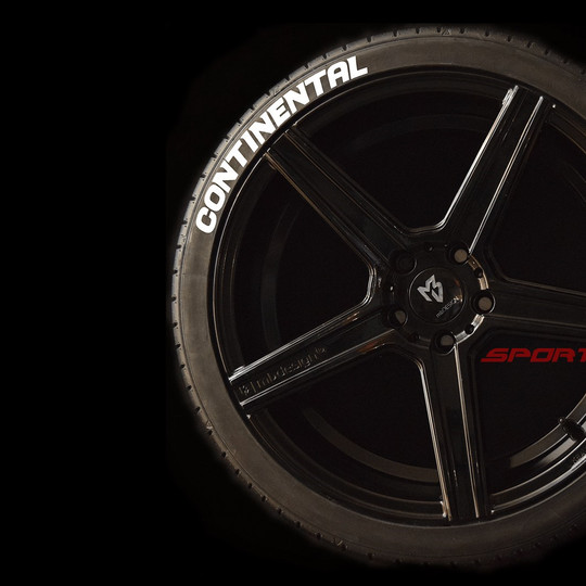 CONTINENTAL blanco 1 SportTyre EVO4 logo