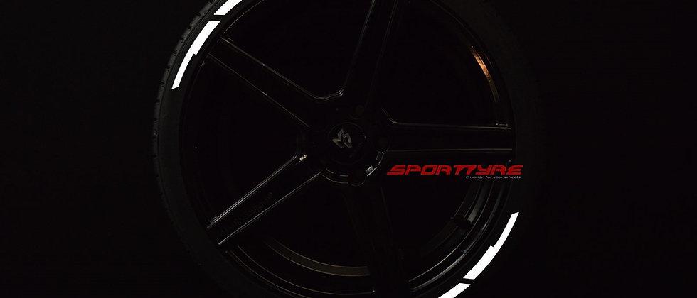 SportTyre EVO3 ARROW Block: Set de 8 Líneas de Flecha en Bloques para neumáticos