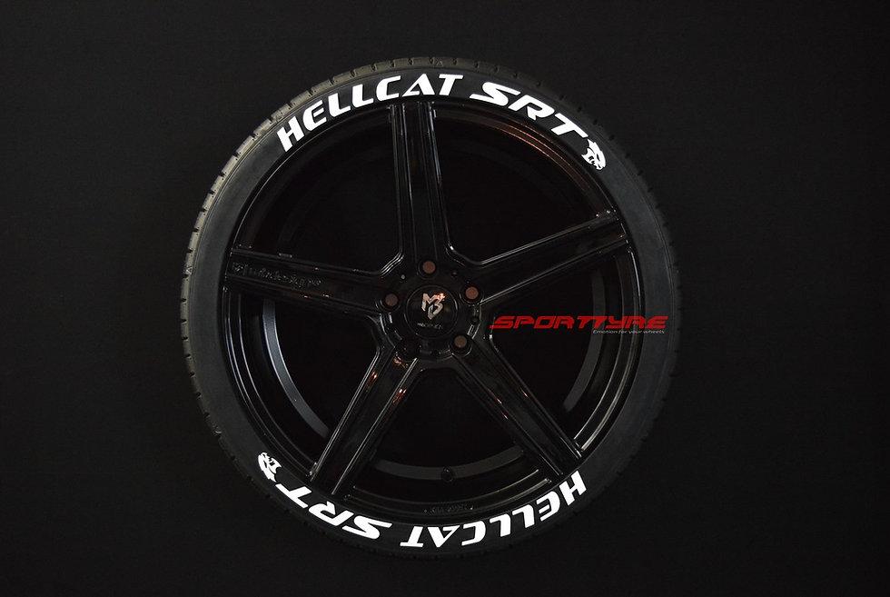 HELLCAT SRT SportTyre EVO4 FASHION. Set 8 + 1 Activador + 1 Limpiador Letras