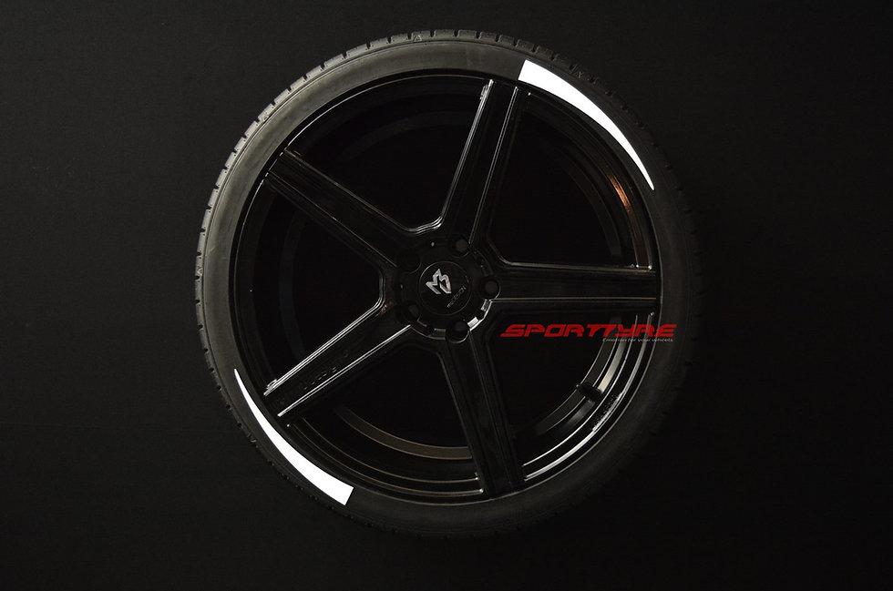 SportTyre EVO3 ARROW: Set de 8 Líneas de Flecha Corta para neumáticos