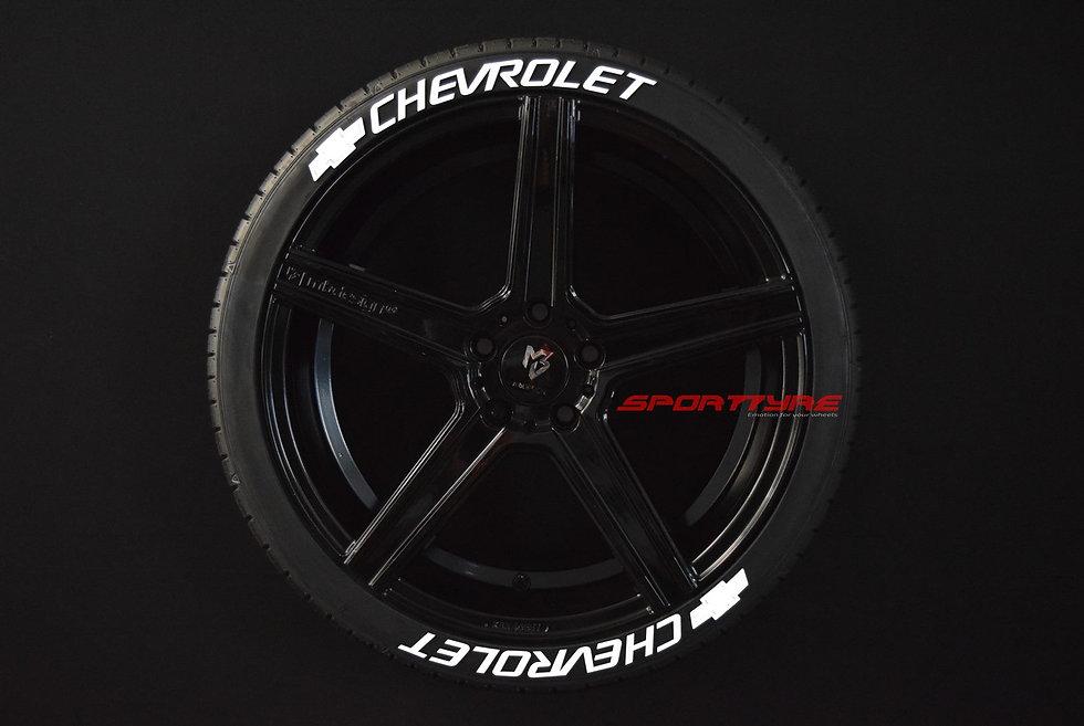 CHEVROLET SportTyre EVO4 FASHION. Set 8 + 1 Activador + 1 Limpiador Letras