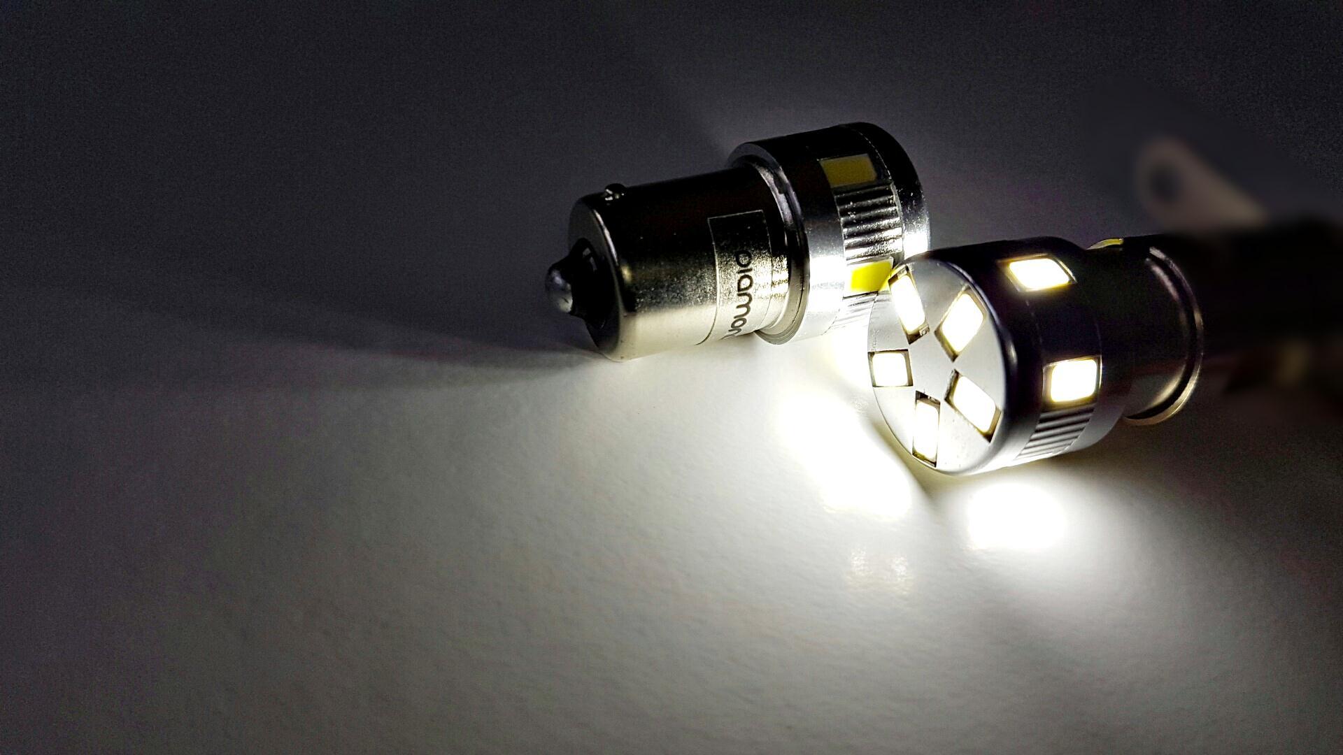 LEDIAMOND R5W-BA15S PREMIUM BLANCO DIAMANTE LUZ 2