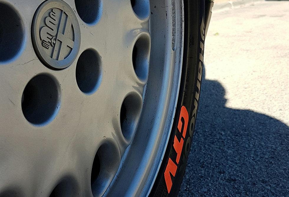 SportTyre EVO2: Pack 12 letras (3 letras x 4 neumáticos) BMW, KIA, GTI, AMG...