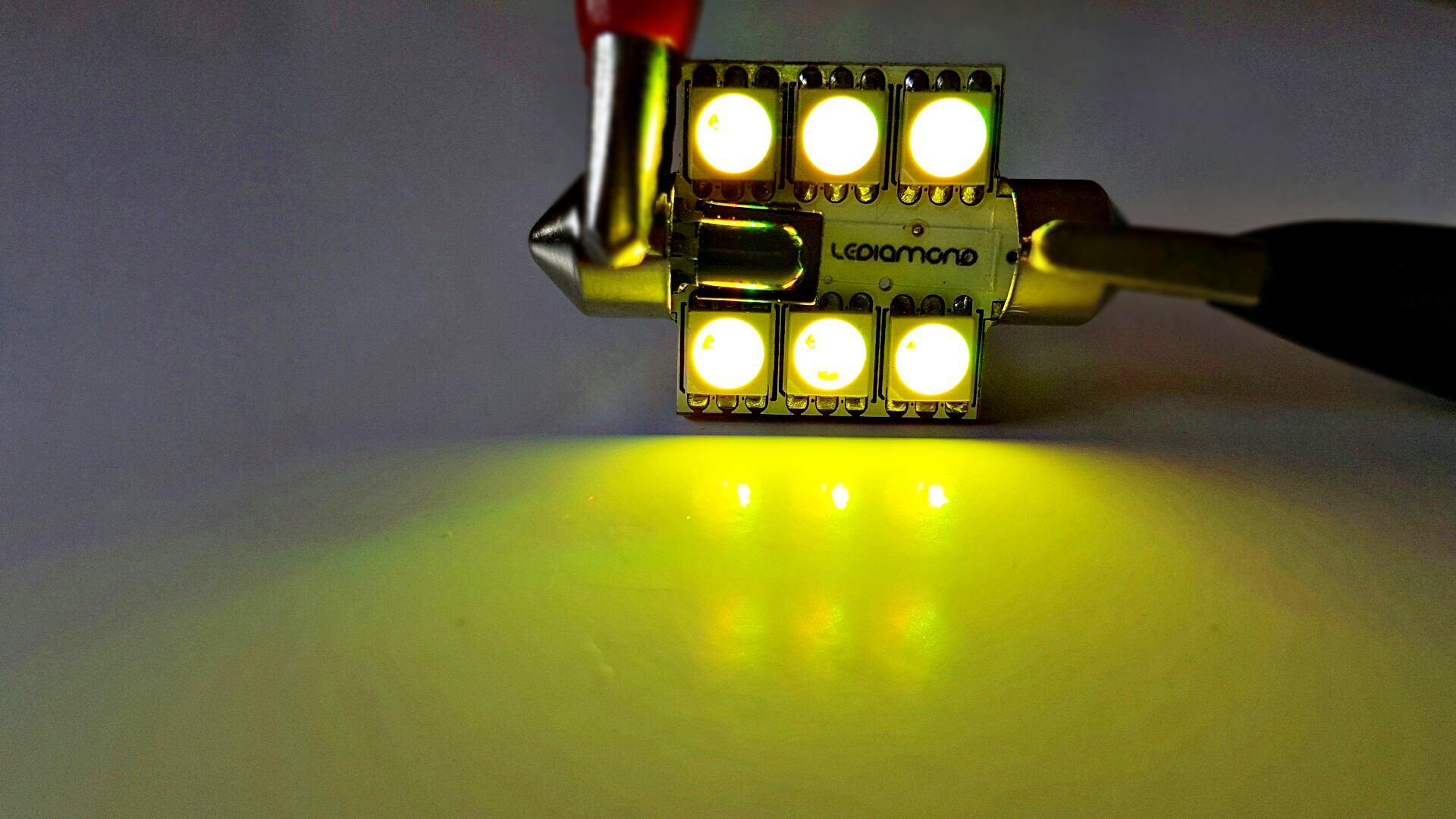 LEDIAMOND RGB CONECTOR FESTOON 36mm 6 LED LUZ 3