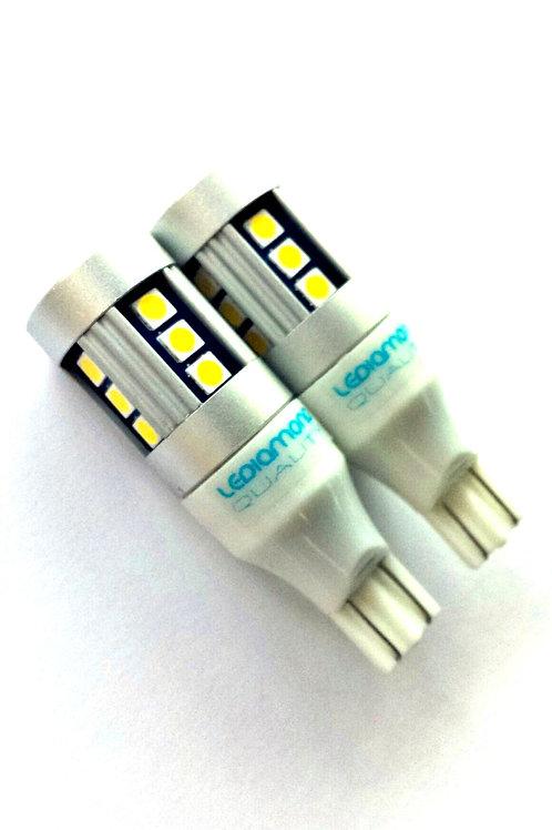 LEDiamond W16W-T15. Premium LED 5000K. CANBUS. Alto brillo. Chipset SAMSUNG 3030