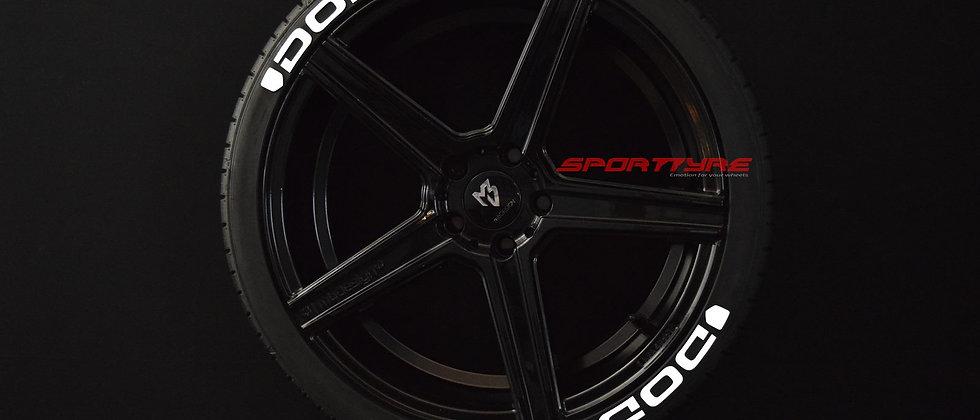 DODGE SportTyre EVO4 FASHION. Set 8 + 1 Activador + 1 Limpiador Letras