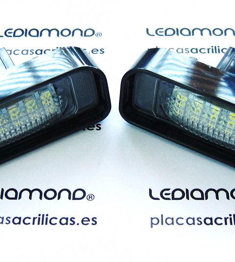 Plafones LED Matrícula MERCEDES-BENZ W220 clase S ... LMD030211