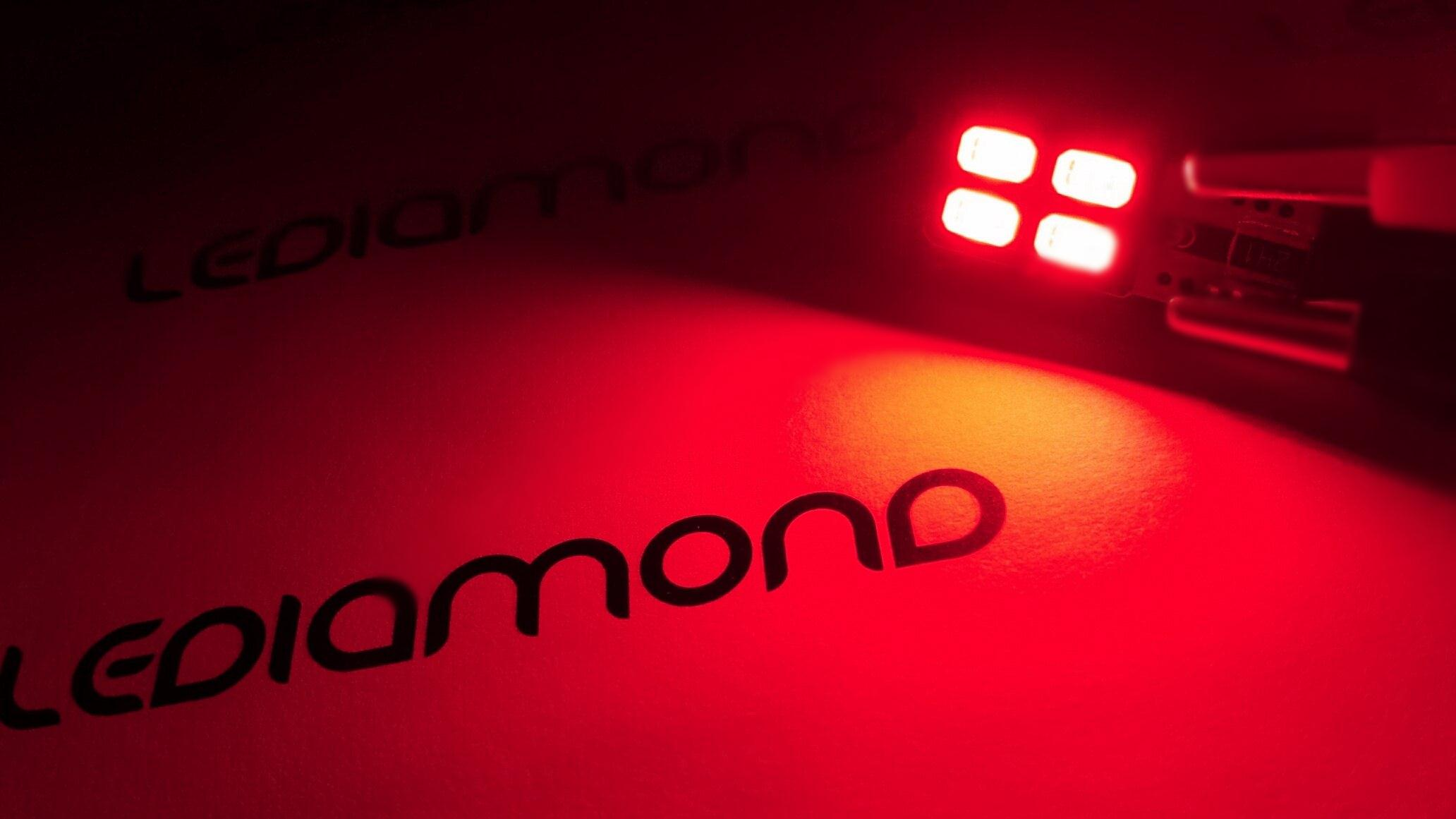 Bombillas led interior rojo LEDIAMOND ambiente 2