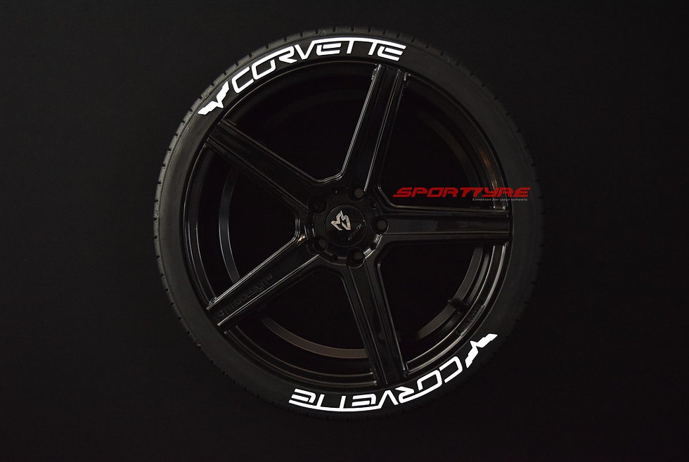 CORVETTE SportTyre EVO4 FASHION. Set 8 + 1 Activador + 1 Limpiador Letras