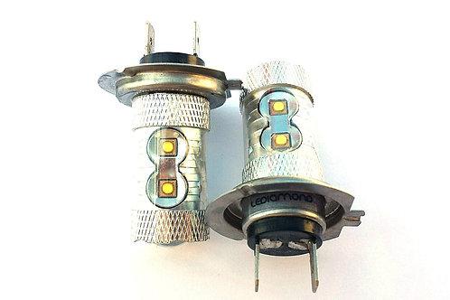 LEDiamond Antiniebla/Giro H7 Efecto 50W . Premium LED OSRAM. Blanco diamante.