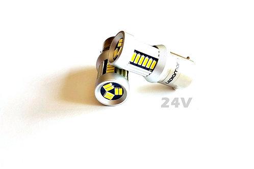 LEDiamond P21W-BA15S 24V. Blanco Diamante. Chip Samsung 4014. Cuerpo Aluminio