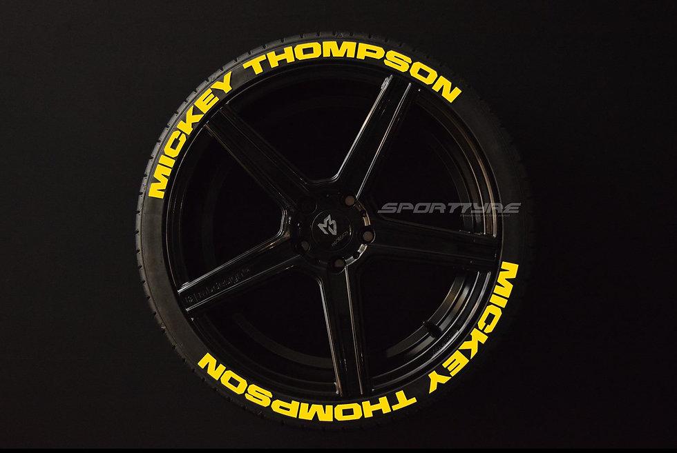 MICKEY THOMPSON SportTyre EVO4 FASHION. Set 8 + 1 Activador + 1 Limpiador Letras