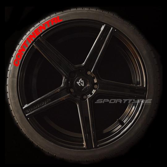 CONTINENTAL rojo 1 SportTyre EVO4 logo.j