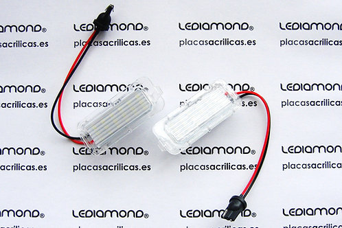 Plafones LED Matrícula FORD FOCUS MONDEO FIESTA 2009 en adelante  LM030703
