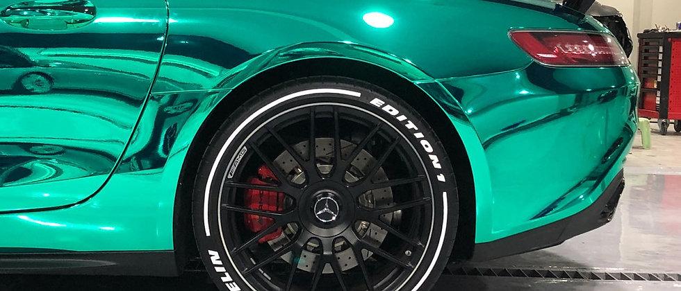 SportTyre EVO3: SET de 4 Líneas, Franjas, Bandas para neumáticos