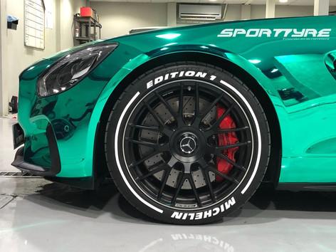 Tire Stickers SportTyre Mercedes