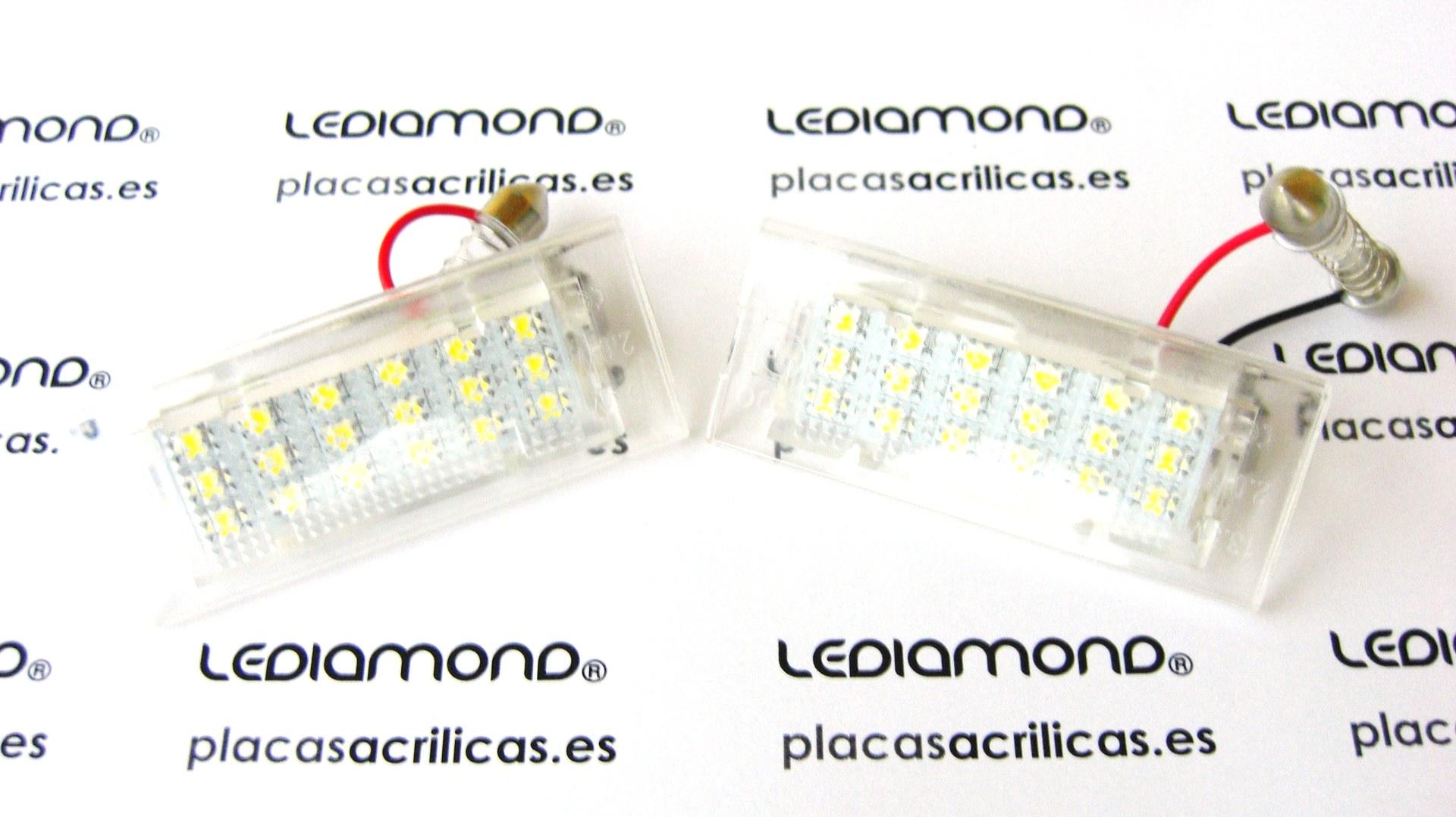 PLAFONES MATRICULA LED BMW X5 E53 X3 E83 LEDIAMOND LMD030117