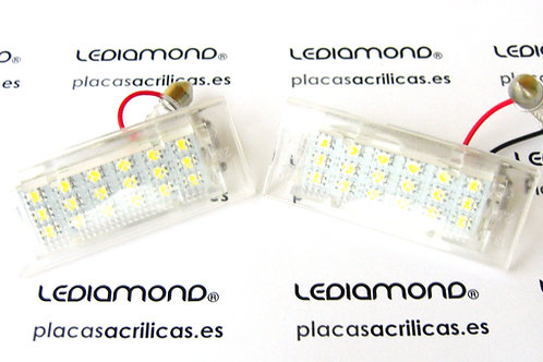 PLAFONES MATRICULA LED BMW X5 E53 X3 E83 LEDIAMOND LDM030117
