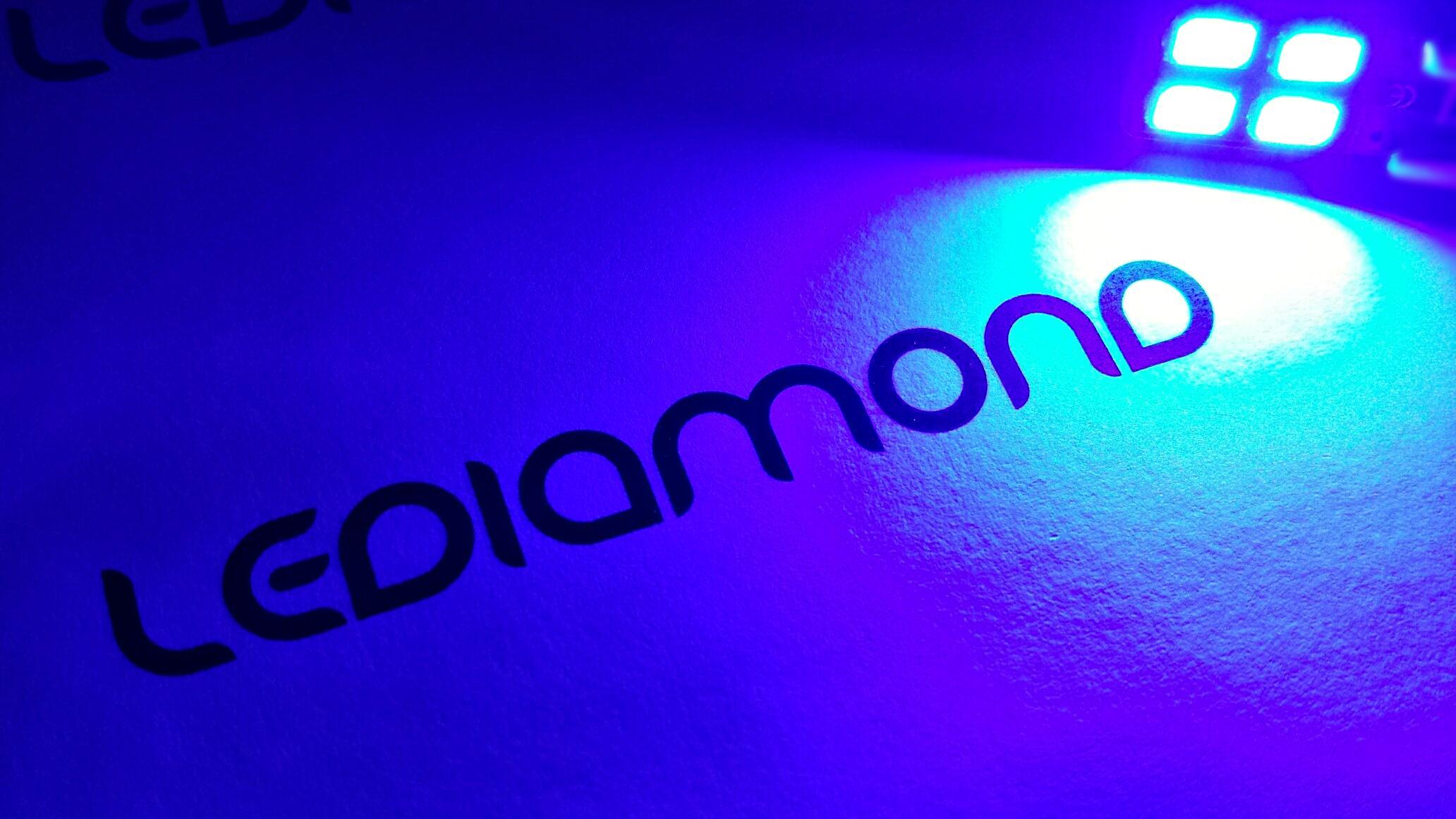 Bombillas led W5W-T10 azul LEDIAMOND ambiente luz4