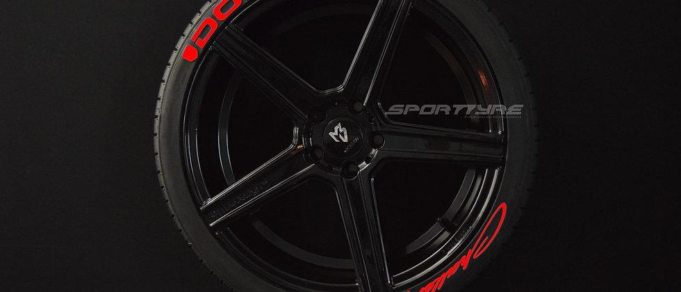 DODGE + CHALLENGER SportTyre EVO4 Fashion. Set (4+4) + 1 Activador + 1 Limpiador