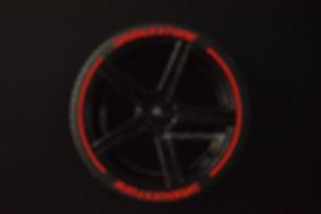 BRIDGESTONE con SportTyre EVO3 rojo logo