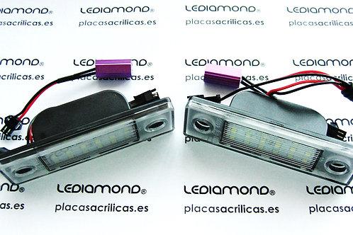 PLAFONES MATRICULA LED CHEVROLET Cruze Camaro hasta 2009 LEDIAMOND LDM032201