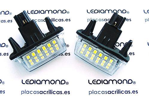 Plafones LED Matrícula TOYOTA CAMRY HYBRID VERSO YARIS PRIUS C... LMD030411