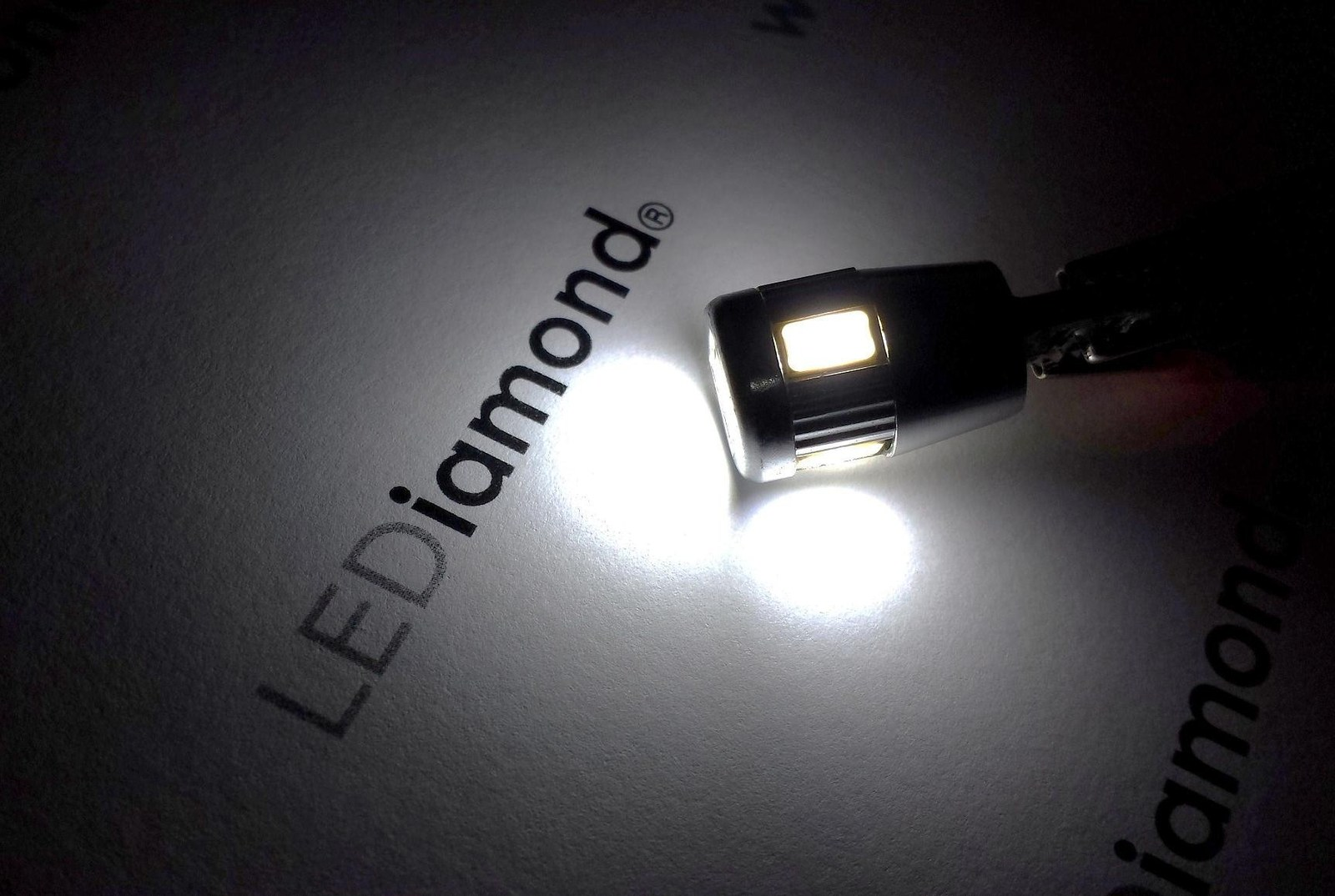 bombillas lediamond w5w-t10 premium 5000k samsung 5630