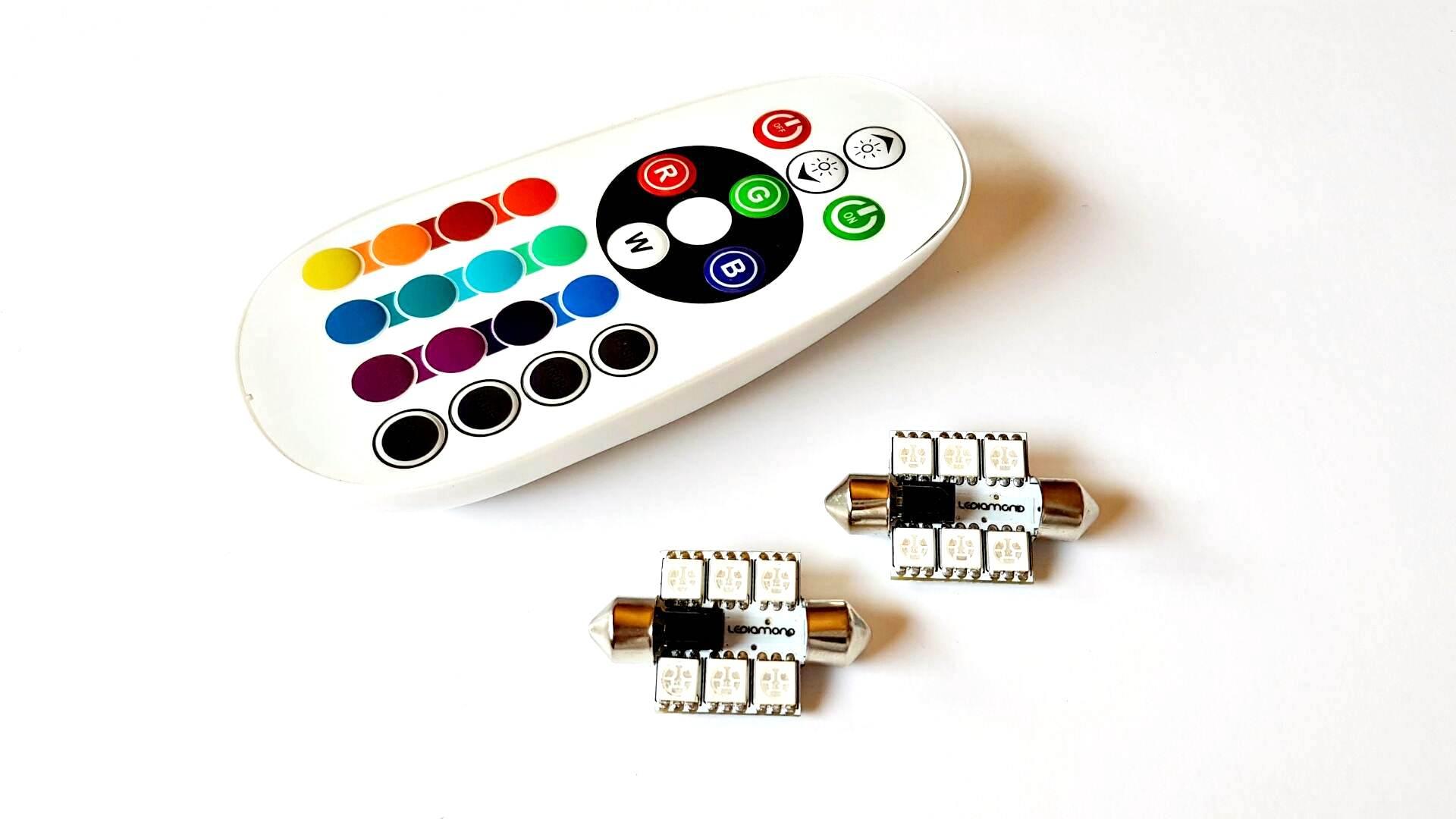 LEDIAMOND RGB CONECTOR FESTOON 36mm 6 LED