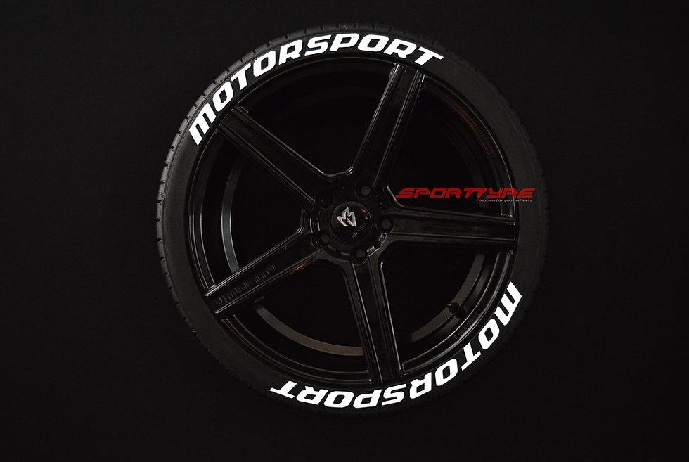 MOTORSPORT SportTyre EVO4 FASHION. Set 8 + 1 Activador + 1 Limpiador Letras