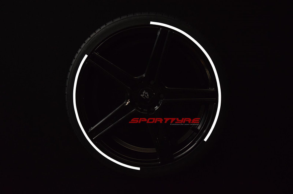 SportTyre EVO3: SET de 8 Líneas, Franjas, Bandas para neumáticos