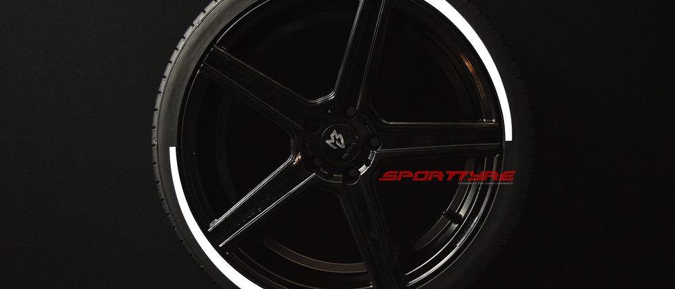 SportTyre EVO3 ARROW: Set de 8 Líneas de Flecha Larga para neumáticos