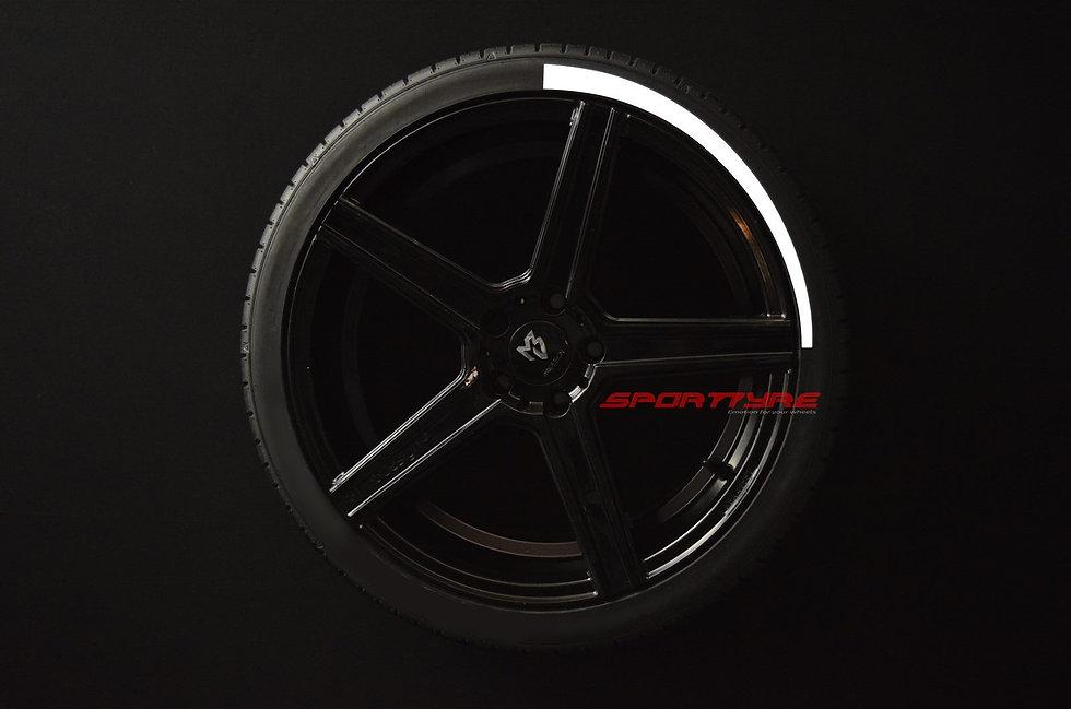 SportTyre EVO3 ARROW: Set de 4 Líneas de Flecha Larga para neumáticos