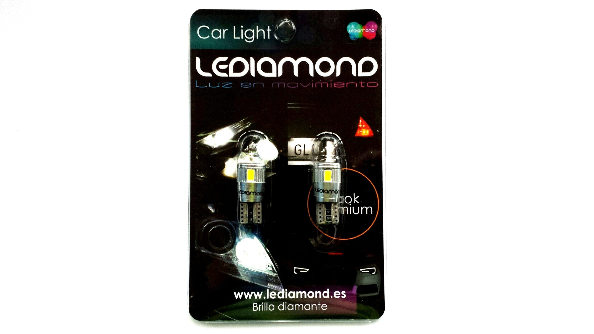 Blister LEDIAMOND W5W-T10 ALUMINIO SAMSUNG 5630