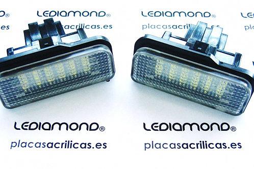 Plafones LED Matrícula MERCEDES-BENZ W211W203 W219 R171 ... LMD030204
