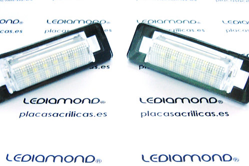 Plafones LED Matrícula MERCEDES-BENZ W202 W210 ... LMD030209