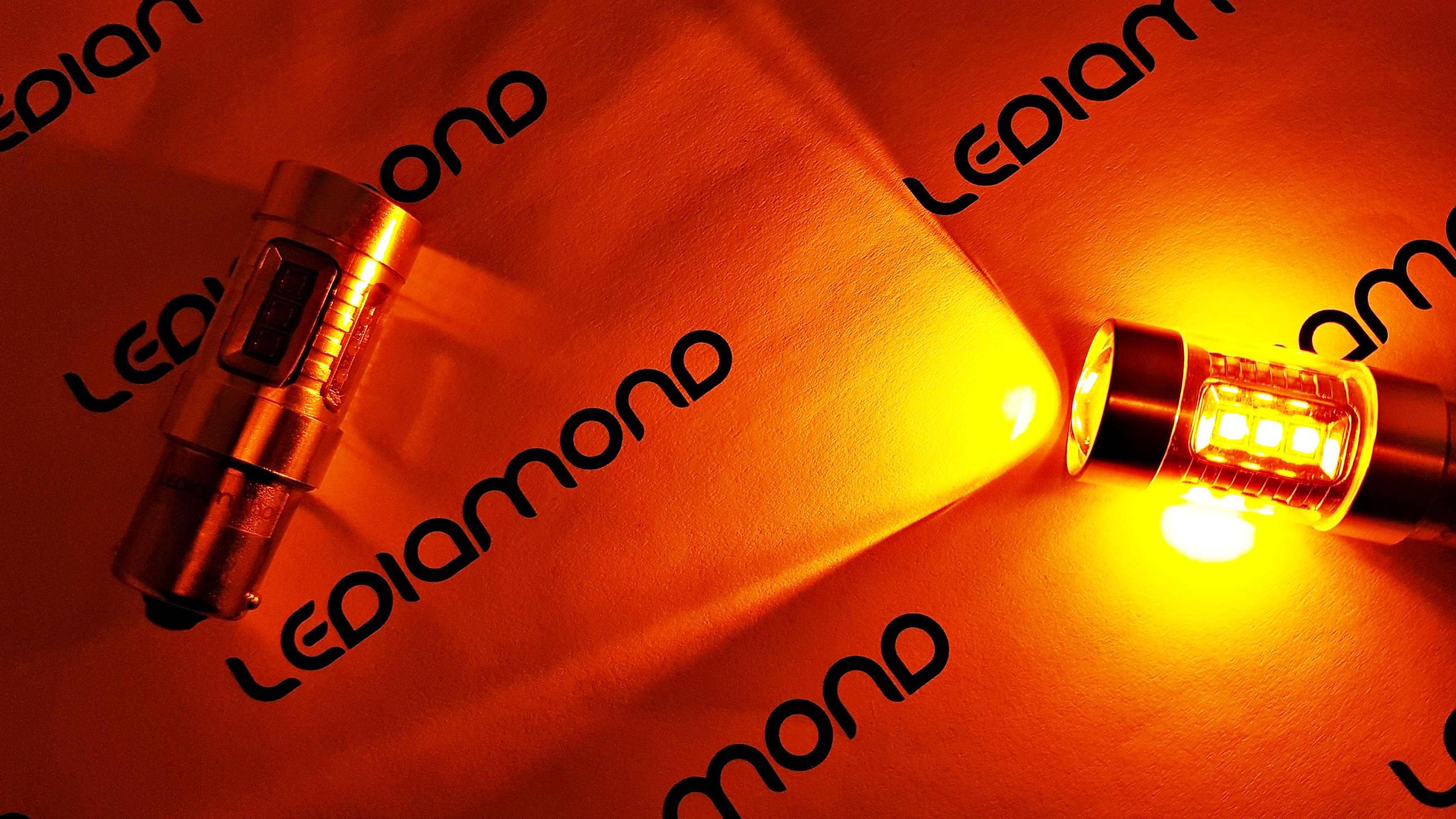 LEDIAMOND PY21W BA15S NARANJA alta gama 80W LUZ 2