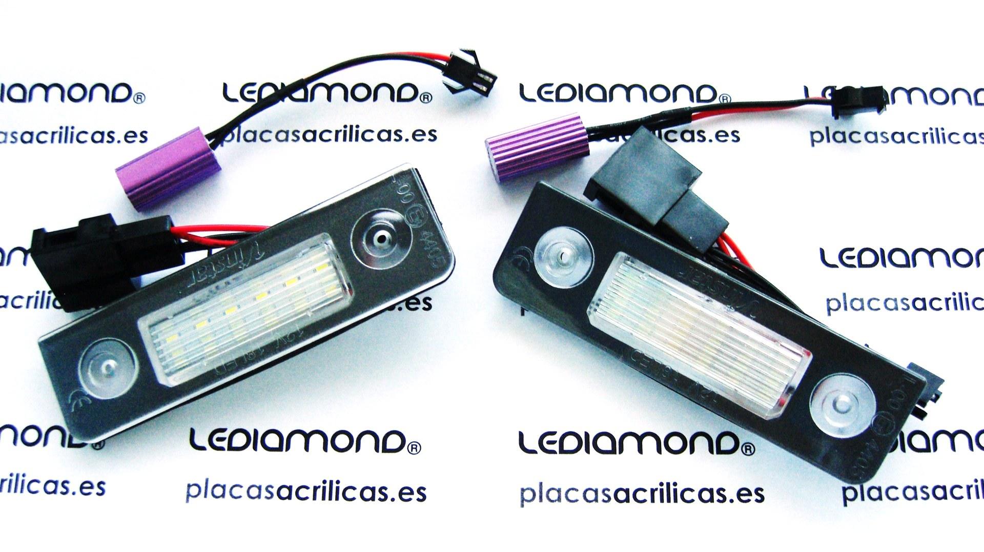 PLAFONES LED MATRICULA VW SKODA LMD030903