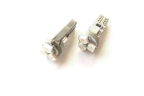 LEDiamond W1.2W/W3W-T5. Premium LED 3528. Alto brillo. Rojo Intenso