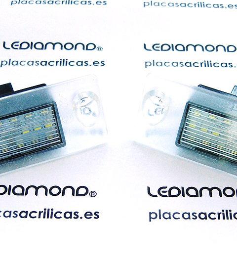 Plafones LED Matrícula AUDI A3 A4 S5 B8... LMD030815