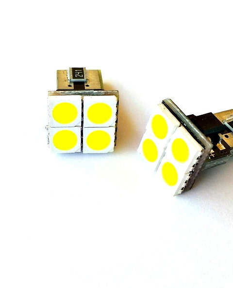 LEDiamond W5W – T10 PANEL 4SMD FRONTALES. NEW GENERATION LED 5500K
